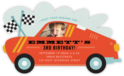 Little Racer - Cheree Berry - Birthday invitations