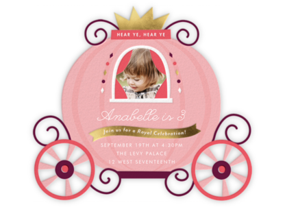 Pumpkin Carriage - Cheree Berry - Kids' birthday invitations