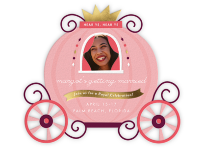 Pumpkin Carriage - Cheree Berry - Bachelorette party invitations