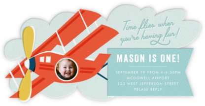 Sky Rider - Cheree Berry - First Birthday Invitations