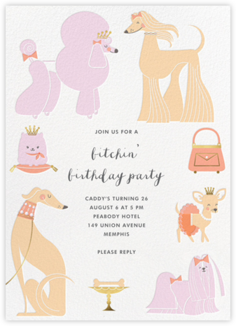 Chiens Chic - Hello!Lucky - Adult Birthday Invitations