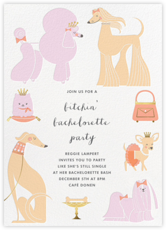 Chiens Chic - Hello!Lucky - Bachelorette party invitations
