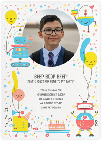 Do the Robot - Hello!Lucky - Online Kids' Birthday Invitations