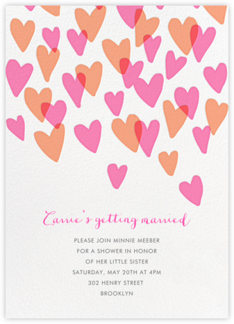 Hearts a Flutter - Hello!Lucky - Bridal shower invitations