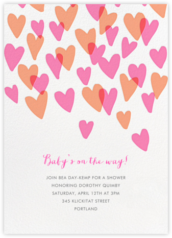 Hearts a Flutter - Hello!Lucky - Baby Shower Invitations
