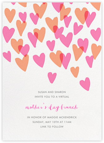 Hearts a Flutter - Hello!Lucky - Online Mother's Day invitations