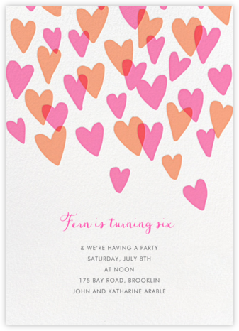 Hearts a Flutter - Hello!Lucky - Online Kids' Birthday Invitations