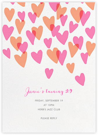 Hearts a Flutter - Hello!Lucky - Adult Birthday Invitations