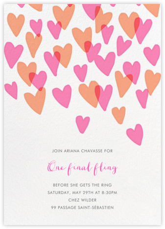Hearts a Flutter - Hello!Lucky - Bachelorette Party Invitations