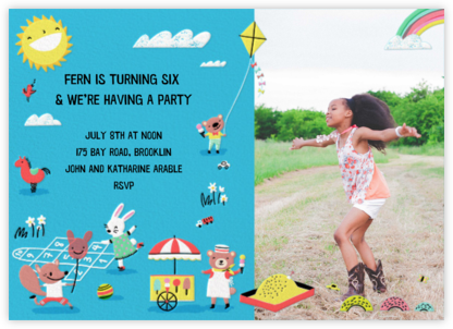 Playground Days Photo - Hello!Lucky - Online Kids' Birthday Invitations