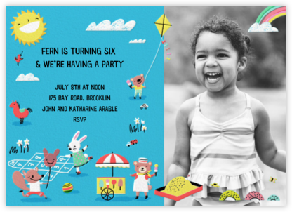 Playground Days Photo - Hello!Lucky - First birthday and baby birthday invitations