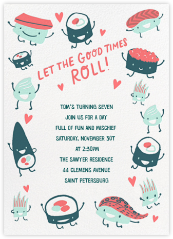 Roll Out - Hello!Lucky - Birthday invitations