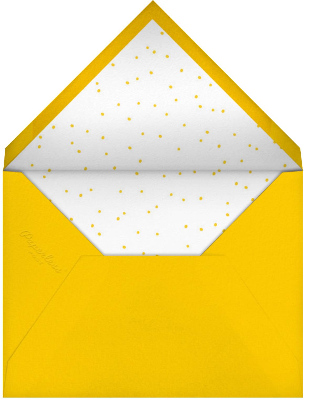 T-Rex B-Day - Hello!Lucky - Kids' birthday - envelope back