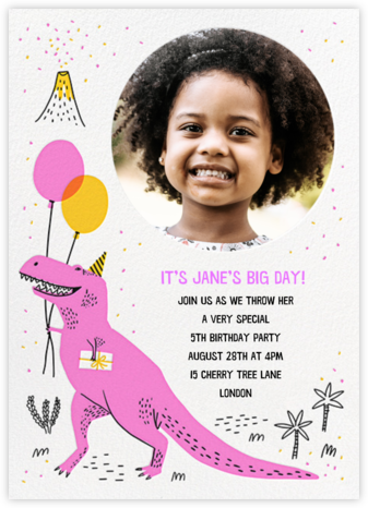 T-Rex B-Day - Hello!Lucky - Birthday invitations