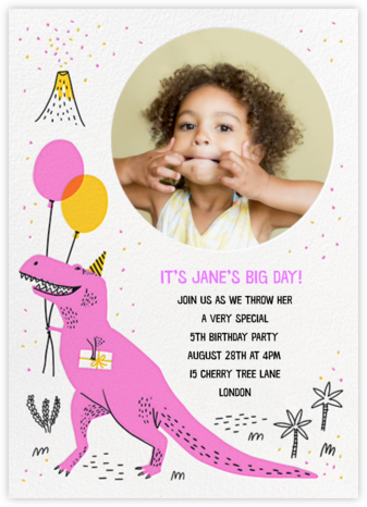 T-Rex B-Day - Hello!Lucky - Online Kids' Birthday Invitations