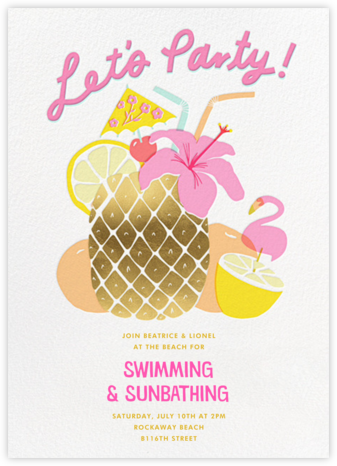Tiki Time - Hello!Lucky - Summer Party Invitations