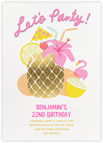 Tiki Time - Hello!Lucky - Adult birthday invitations