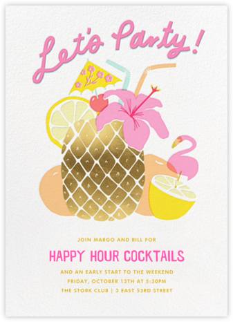 Tiki Time - Hello!Lucky - Happy Hour Invitations