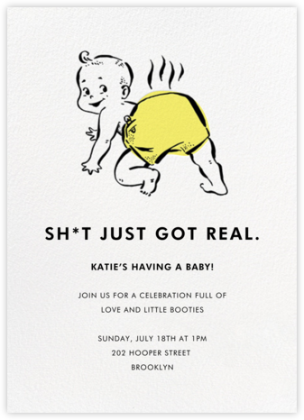 Too Real - Hello!Lucky - Online Baby Shower Invitations