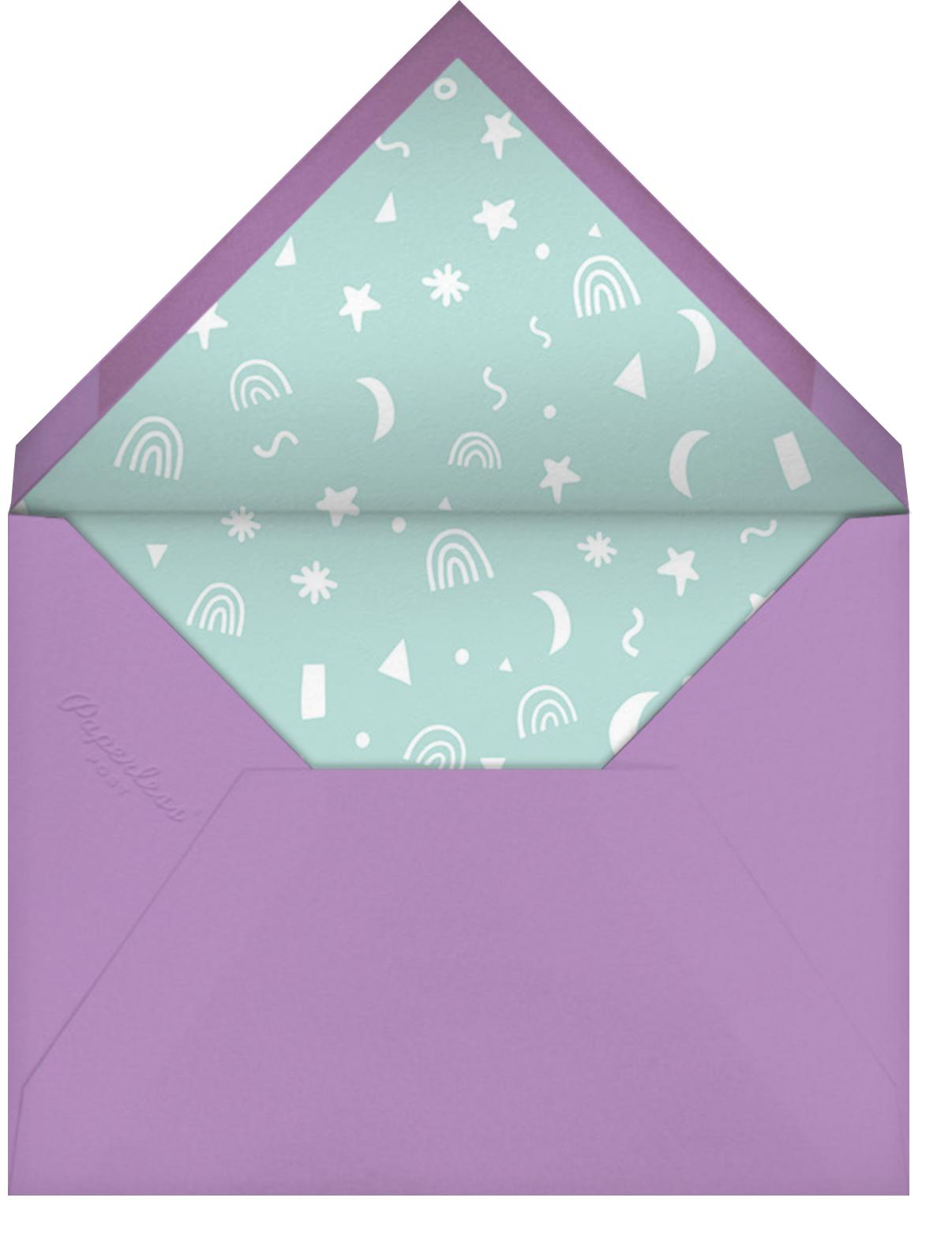 Unicorn Frolic - Hello!Lucky - Kids' birthday - envelope back