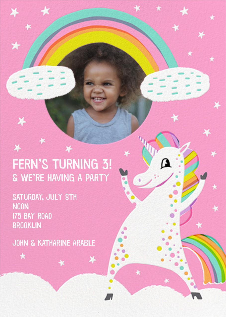 Unicorn Magic - Hello!Lucky - Kids' birthday invitations