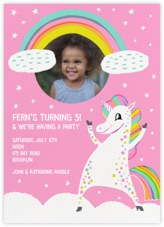 Unicorn Magic - Hello!Lucky - Online Kids' Birthday Invitations