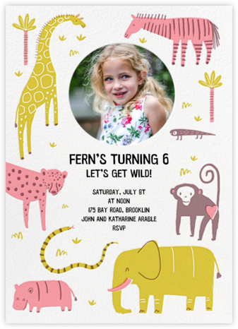 Wild Wild Life - Hello!Lucky - Online Kids' Birthday Invitations
