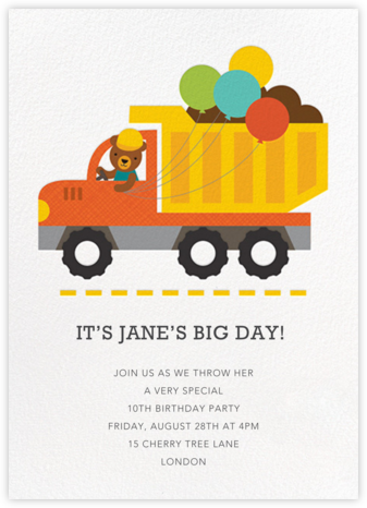 Builder Bear - Petit Collage - Online Kids' Birthday Invitations