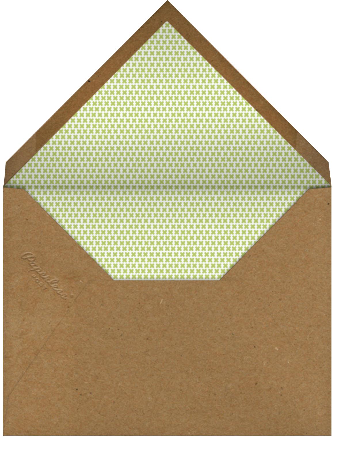 Garden Portrait - Petit Collage - Baby shower - envelope back