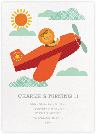 King of the Sky - Petit Collage - Baby shower invitations