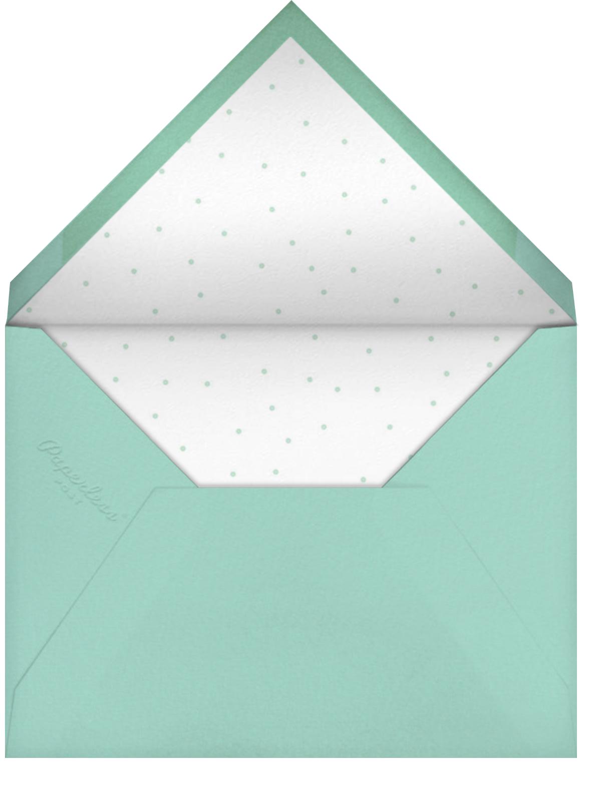 String of Stars - Petit Collage - Baby shower - envelope back