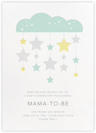 String of Stars - Petit Collage - Baby shower invitations