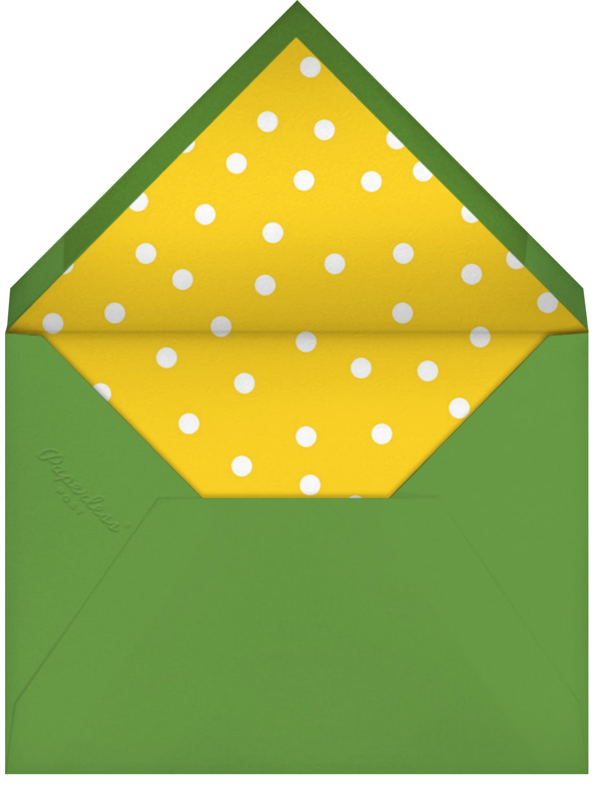 Baby Block Tower - Paperless Post - First birthday - envelope back