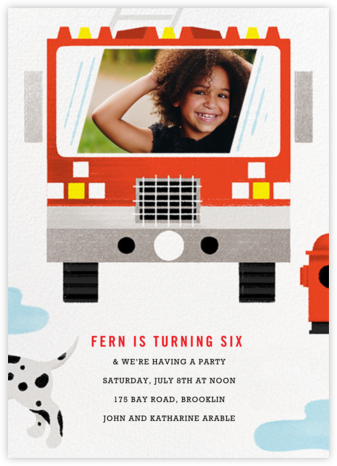 Hot Pursuit - Paperless Post - Birthday invitations