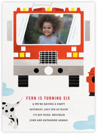 Hot Pursuit - Paperless Post - Kids' birthday invitations
