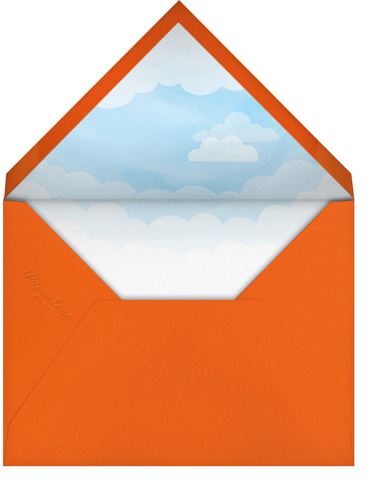 One Banner Birthday - Paperless Post - Kids' birthday - envelope back