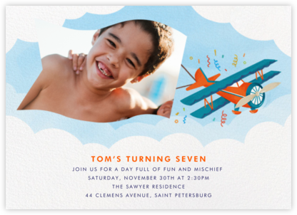 One Banner Birthday - Paperless Post - Online Kids' Birthday Invitations