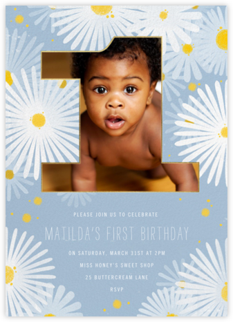 One Crazy Daisy - Paperless Post - First Birthday Invitations