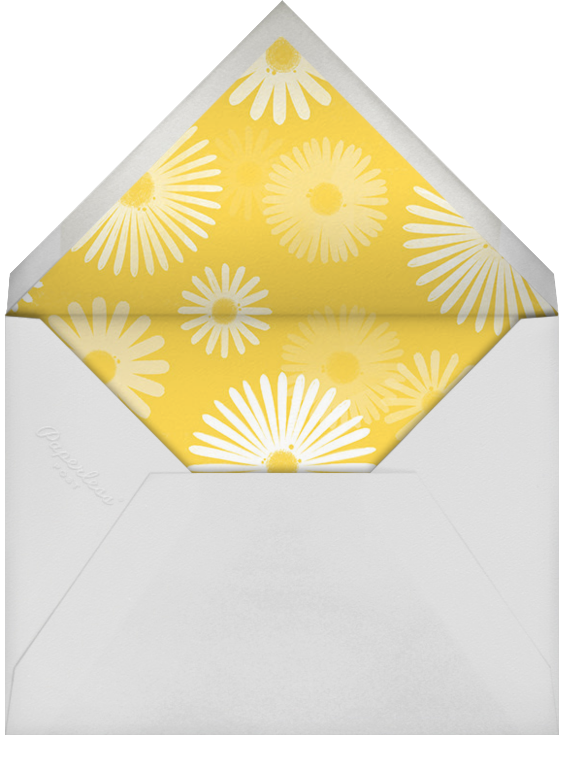 One Crazy Daisy - Paperless Post - First birthday - envelope back