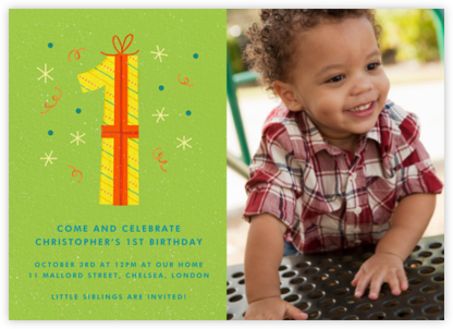 One Perfect Present - Paperless Post - First Birthday Invitations