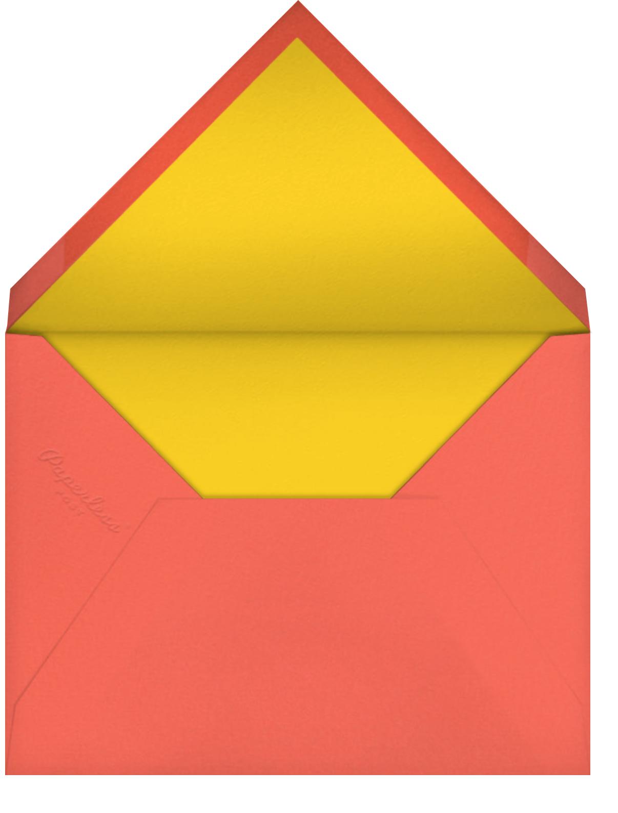 One Puzzling Birthday - Paperless Post - 1st birthday - envelope back