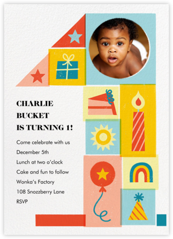 One Puzzling Birthday - Paperless Post - First Birthday Invitations