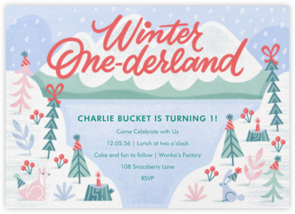 One Wonderful Winter - Paperless Post - Birthday invitations