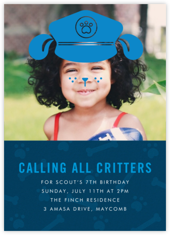Pooch Patrol - Paperless Post - Kids' birthday invitations