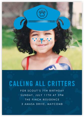 Pooch Patrol - Paperless Post - Kids' birthday invitations
