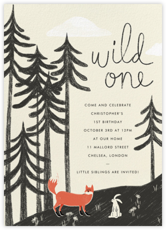 Real Wild One - Paperless Post - First Birthday Invitations