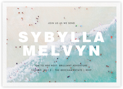 Ocean Wave - Gray Malin - Farewell party invitations