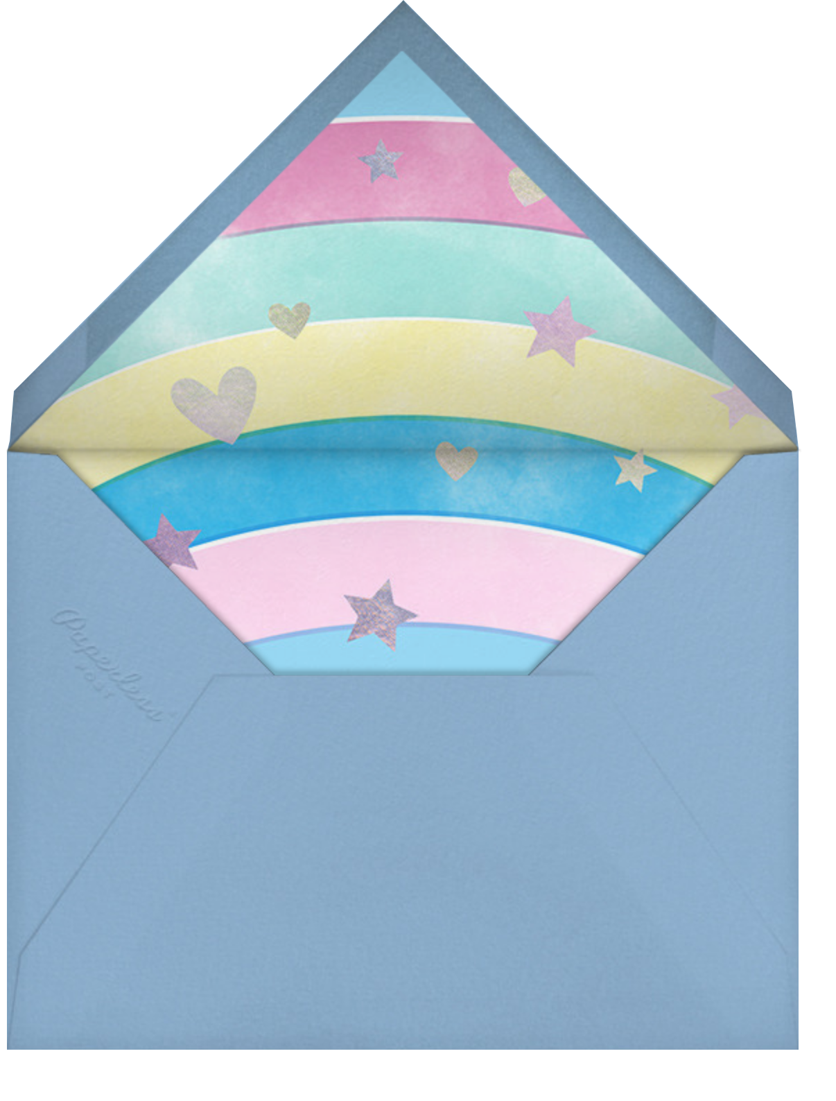 Hair Don't - Pink - Paperless Post - Kids' birthday - envelope back