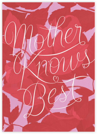 Mama Knows - Pink - Paperless Post - Holiday cards