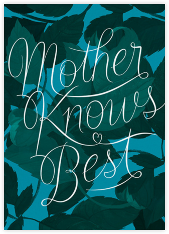 Mama Knows - Green - Paperless Post - Mother's day cards